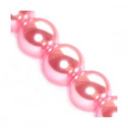 Sklenené perličky Pink 10mm /5ks