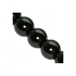Sklenené perličky Black 6mm /12ks