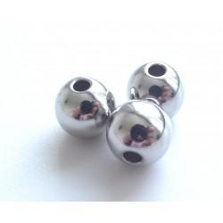 Korálky - kovový vzhľad, 4 mm