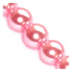 Sklenené perličky Pink 12mm /2ks