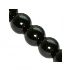 Sklenené perličky Black 8mm /10ks