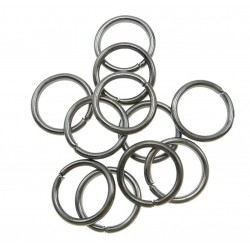 Spojovacie krúžky - hematit, 6mm/20ks