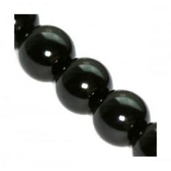 Sklenené perličky Black 10mm /5ks