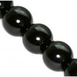 Sklenené perličky Black 12mm /2ks