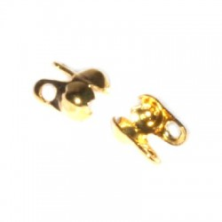 Kalota-zlatá farba, 3,9mm/5ks