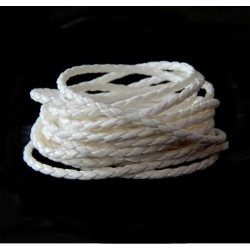 Remienok pletený, biely 2,5mm /0,5m