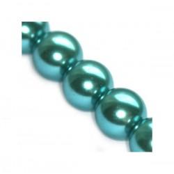 Sklenené perličky Azure 8mm /10ks