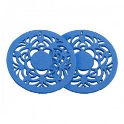 Drevený kruh, modrý /2ks