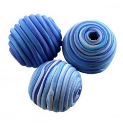 Tornádo korálky - modré