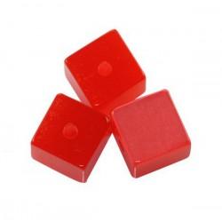 Živicová kocka, červená /5ks