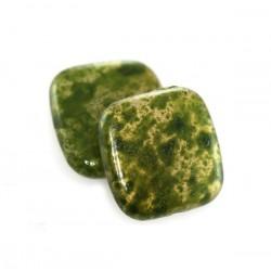 Plastové štvorce, zelené /10ks