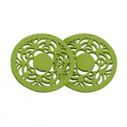 Drevený kruh, zelený /2ks