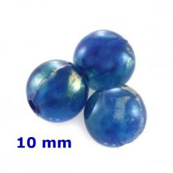 Plastové korálky, modré /10ks