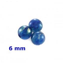 Plastové korálky, modré /100ks