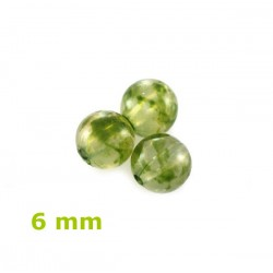 Plastové korálky, zelené /100ks