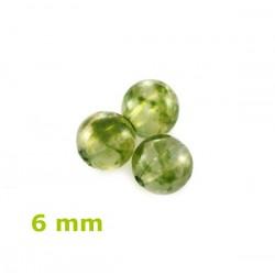 Plastové korálky, zelené /20ks