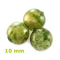 Plastové korálky, zelené /10ks