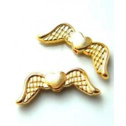 Krídielka so srdiečkom, pozlátené